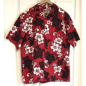 Hilo Hattie Hawaiian Shirt Floral Tropical Medium